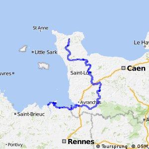 EV4 Saint-Malo > Cherbourg