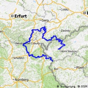 Euregio-Egrensis-Radfernweg Bayern-Thüringen-Sachsen-Böhmen