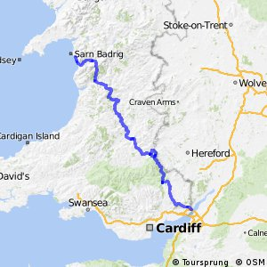 Capitals Route - part United Kingdom (Wales South)