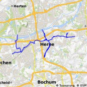 Radverkehrsnetz NRW, Stadt Herne