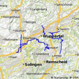 Radverkehrsnetz NRW, Stadt Wuppertal