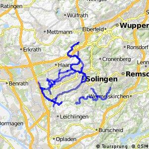 Radverkehrsnetz NRW, Stadt Solingen