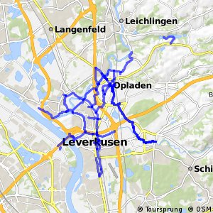 Radverkehrsnetz NRW, Stadt Leverkusen
