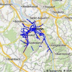 Radverkehrsnetz NRW, Stadt Bonn