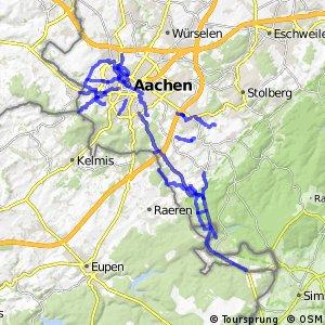 Radverkehrsnetz NRW, Stadt Aachen