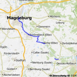 [D10] Elberadweg Alternativroute Magdeburg - Aken [linkselbisch]