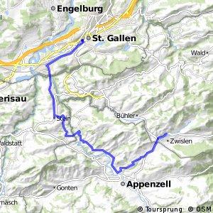 rcn 42 Appenzeller Route - Etappe 1 (St.Gallen - Gais)