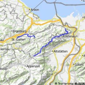 rcn 42 Appenzeller Route - Etappe 2 (Gais - St.Gallen )
