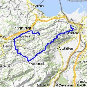 rcn 42 - Appenzeller Route (St. Gallen–Appenzell–Heiden–St. Gallen)