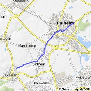 Knotennetz NRW Bergheim (25) - Pulheim (33)