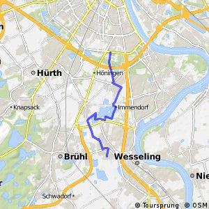 Knotennetz NRW Wesseling (79) - Koeln (86)