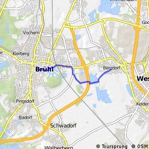 Knotennetz NRW Bruehl (72) - Wesseling (79)