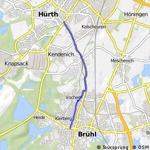 Knotennetz NRW Bruehl (66) - Huerth (71)