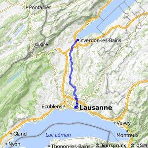 rcn 22 - Etappe 1 (Lausanne-Yverdon-les-Bains)