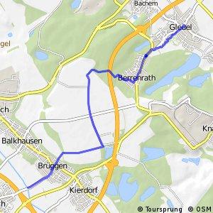 Knotennetz NRW Huerth (40) - Frechen (59)