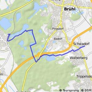 Knotennetz NRW Erftstadt (69) - Bruehl (73)