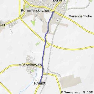 Knotennetz NRW Bergheim (21) - Rommerskirchen (74)