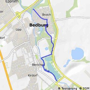 Knotennetz NRW Bergheim (13) - Bedburg (15)