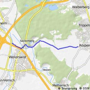 Knotennetz NRW Erftstadt (62) - Bornheim (68)