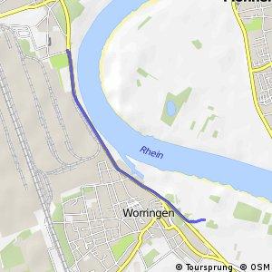 Knotennetz NRW Koeln (06) - Dormagen (43)