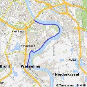 Knotennetz NRW Koeln (50) - Wesseling (75)
