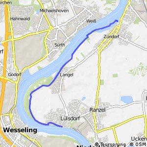 Knotennetz NRW Niederkassel (20) - Koeln (45)