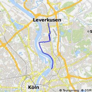 Knotennetz NRW Koeln (36) - Leverkusen (66)