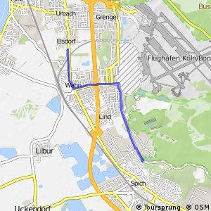 Knotennetz NRW Troisdorf (23) - Koeln (46)