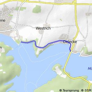 RSW (71) Möhnesee-Delecke - (75) Möhnesee-Staumauer