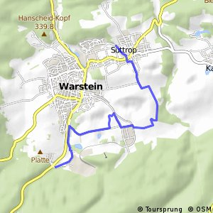 RSW (62) Warstein-Suttrop - (63) Warstein Warsteiner Brauerei