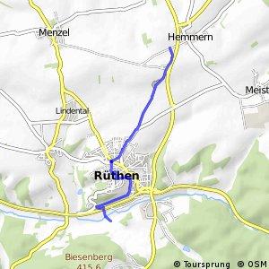 RSW (37) Rüthen - (39) Rüthen-Hemmern