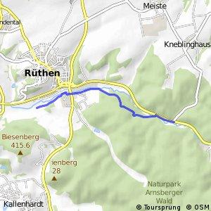 RSW (37) Rüthen - (38) Rüthen-Kneblinghausen