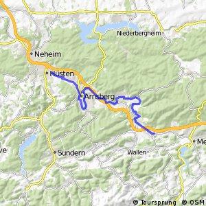 RSW (HSK-28) Meschede-Wennemen - (HSK-49) Arnsberg-Neheim