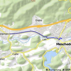 RSW (HSK-22) Meschede - (HSK-28) Meschede-Wennemen