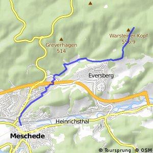 RSW (HSK-21) Meschede–Warsteiner Kopf - (HSK-22) Meschede