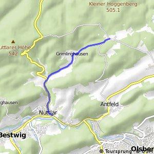 RSW (HSK-18) Bestwig-Nuttlar - (HSK-19) Brilon-Esshoff