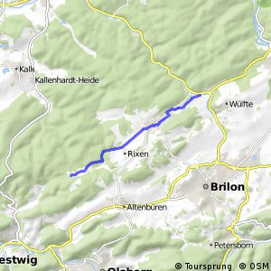 RSW (HSK-10) Brilon-Möhnetal - (HSK-19) Brilon-Esshoff