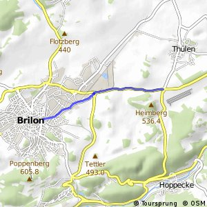 RSW (HSK-07) Brilon-Thülener Kreuz - (HSK-12) Brilon-Bahnhofstraße