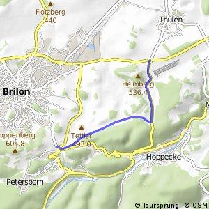 RSW (HSK-07) Brilon-Thülener Kreuz - (HSK-13) Brilon-Camping/Ferienpark