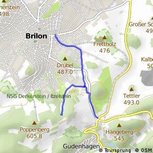 RSW (HSK-12) Brilon-Bahnhofstraße - (HSK-13) Brilon-Camping/Ferienpark