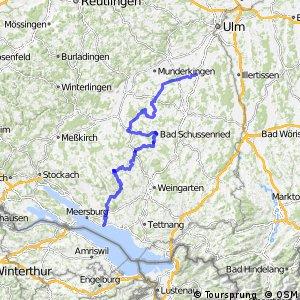 Donau-Bodensee-Radweg Westroute