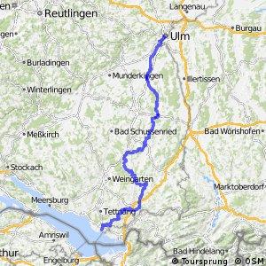Donau-Bodensee-Radweg Hauptroute