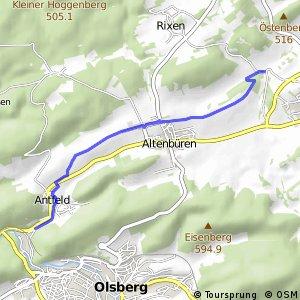 RSW (HSK-17) Olsberg-Antfeld - (HSK-51) Brilon-Aamühlen