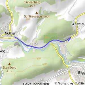RSW (HSK-17) Olsberg-Antfeld - (HSK-18) Bestwig-Nuttlar