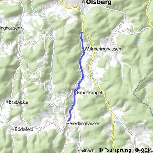 RSW (HSK-15) Olsberg-Wulmeringhausen - (HSK-54) Winterberg-Siedlinghausen