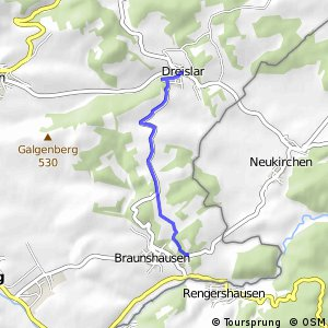 RSW (HSK-62) Hallenberg-Braunshausen - (HSK-64) Medebach-Dreislar