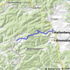 RSW (SI-07) Bad Berleburg-Wunderthausen - (HSK-59) Hallenberg-Liesen