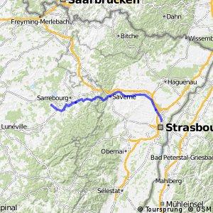 Véloroute 52 - Gondrexange to Strasbourg