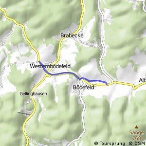RSW (HSK-25) Schmallenberg-Westernbödefeld - (HSK-53) Schmallenberg-Westfeld