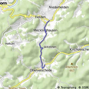 RSW (OE-42) Olpe-Oberveischede - (OE-43) Attendorn-Helden